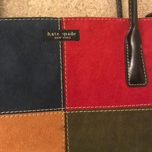 Vintage 90's Kate Spade checkered suede handbag